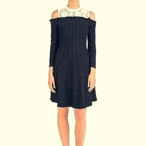 The Kooples Dress Knitted with Lace